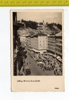 1957 SALZBURG Markt An Universitatsplatz FP V SEE 2 SCANS Animata - Austria