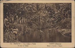 CPA Papeete Une Rivière à Tahiti Océanie Edition L Gauthier A River In Tahiti 176 FM CAD Papeete 1 3 18 - French Polynesia