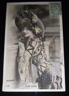 CPA E. DE VERE ACTRICE CADRE ART NOUVEAU GRAND CHAPEAU REUTLINGER FRENCH PARISIAN ACTRESS BIG HAT - Femmes Célèbres