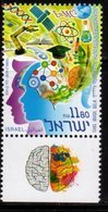 ISRAEL, 2019, MNH, SCIENCE ORIENTED YOUTH, CHEMISTRY, SATELLITES,1v+TAB - Sciences