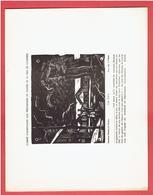 COMITE D ASSISTANCE AUX PRISONNIERS DE GUERRE DE LA VILLE DE CHARTRES 1942 GRAVURE SUR BOIS DE JEAN VILLETTE CAMP WWII - Chartres
