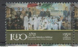 MEXICO, 2017, MNH, MILITARY, MEDICINE, MILITARY MEDICAL SCHOOL,1v - Jobs