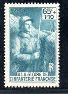 N 387 / 65 Centimes + 1 Franc 10 Bleu  /  NEUF **  /  Côte 7 € - Unused Stamps