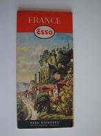 Esso,carte Touristique Illustrée 1954 Trés Propre - Cartes Routières