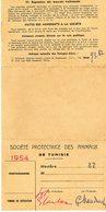 CARTE SPA De Tunisie Animaux 1954 - Documents Historiques