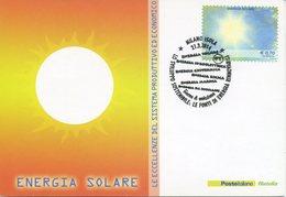 ITALIA - FDC MAXIMUM CARD 2014 - ENERGIA RINNOVABILE - ENERGIA SOLARE - ANNULLO SPECIALE - Cartoline Maximum