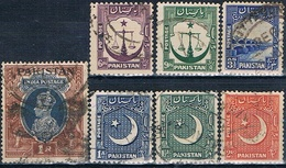 Pakistan 1947 / 49  -  Michel  14 + 25 / 27 + 32 + 14 + 49  ( Usados ) - Pakistán