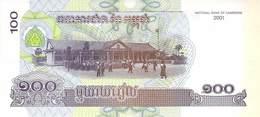 100 Riels Banknote Kambodscha 2001 UNC - Cambodia