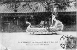BESANCON (Doubs) - Fêtes Des 13, 14 Et 15 Août 1910. N° 34. Concours D'Automobiles Fleuries. Circulée Le 26 Août 1910. - Besancon