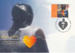 Australia 1998 Maxicard Sc 1661 45c Heart Health - Cartes-Maximum (CM)