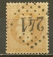 YVert - N° 28A - Cote 20 € - 1863-1870 Napoléon III Lauré