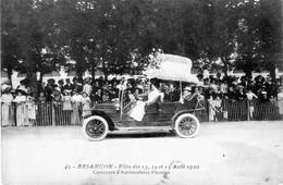 BESANCON (Doubs) - Fêtes Des 13, 14 Et 15 Août 1910. N° 45. Concours D'Automobiles Fleuries. Non Circulée - Besancon