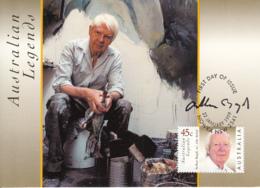 Australia 1999 Maxicard Sc 1719-1720 Arthur Boyd, Artist Australian Legends - Cartes-Maximum (CM)