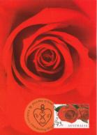 Australia 1999 Maxicard Sc 1723 45c Red Roses - Cartes-Maximum (CM)