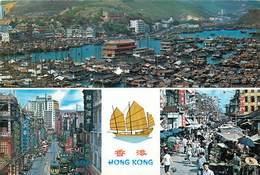 China - Chine - Hong Kong - Market Existing In The Open Street Kowloon - Multivues - Semi Moderne Grand Format - état - China (Hong Kong)
