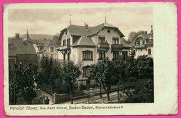 Baden Baden - Pension Glover Bes. Adolf Blümel - Bismarckstrasse 9 - Animée - Baden-Baden