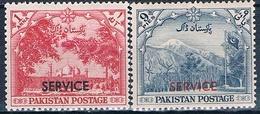 Pakistan 1954  -  Michel  66 + 67   ( SERVICIO )  ( ** ) - Pakistán