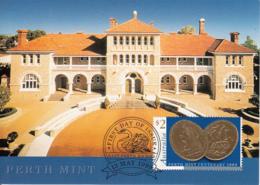 Australia 1999 Maxicard Sc 1758 $2 Perth Mint Centenary - Cartes-Maximum (CM)