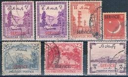 Pakistan 1954 / 59  -  Michel  46 / 48 + 55 + 58 + 65 +66   ( SERVICIO )  ( Usados ) - Pakistán