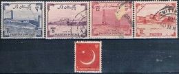 Pakistan 1955 / 57  -  Michel  74 / 76 + 83 + 87  ( Usados ) - Pakistán
