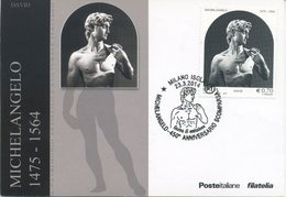 ITALIA - FDC MAXIMUM CARD 2014 - IL DAVID DI MICHELANGELO - ARTE - ANNULLO SPECIALE MILANO - Cartoline Maximum
