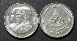 Thailand Coin 2 1992 100th Thai Teacher Training Y276 - Thailand