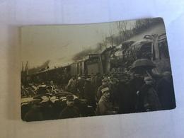 Bernay.carte Photo Par Sidrot Accident De Train - Bernay