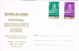33061. Carta F.D.C. NDOLA ZAMBIA 1966. University Issue - Zambia (1965-...)