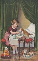 Girl Has A Tea Party With Cats , 00-10s - Cats
