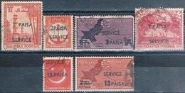 Pakistan 1961  -  Michel  69 / 74  ( SERVICIO )  ( Usados ) - Pakistán