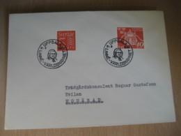 UPPSALA 1967 To Moharad Linne Varldsnamnet 2 Stamp On Cancel Cover SWEDEN - Lettres & Documents
