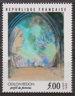 Art, Peinture - Odilon Redon - FRANCE - Profil De Femme - N° 2635 ** - 1990 - Nuevos