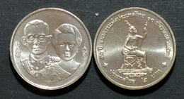 Thailand Coin 2 Baht 1992 50th Year Of National Bank Y277 - Thailand