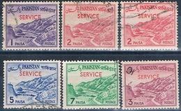 Pakistan 1961  -  Michel  83 / 85 + 87 + 99  ( SERVICIO )  ( Usados ) - Pakistán
