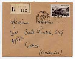 - Lettre Recommandée BRION (Maine-et-Loire) Pour CAEN (Calvados) 19.9.1949 - - 1921-1960: Période Moderne