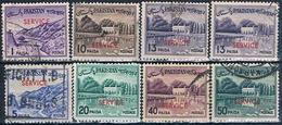 Pakistan 1961  -  Michel  86 + 88 + 89 + 91 + 96 + 102 + 104 + 107  ( SERVICIO )  ( Usados ) - Pakistán