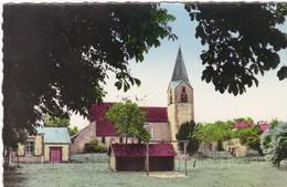 45. AUGERVILLE LA RIVIERE. RARETÉ..L'EGLISE. ANNÉES 50 COULEUR - Other Municipalities