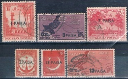 Pakistan 1961  -  Michel  122 / 127  ( SERVICIO )  ( Usados ) - Pakistán