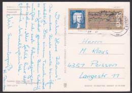 Johann Sebastin Bach Ehrung In Der DDR, Marke Aus Block 81 Karte MWSt. Berlin Friedrichsfelde, Mit Bachs Letzte Handschr - [6] República Democrática