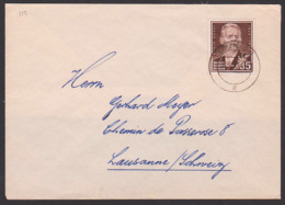 Maxim Gorki Russischer Poet 45 Pfg. Auslandsbrief Portogenau Nach Lausanne Schweiz DDR 354 - Brieven En Documenten