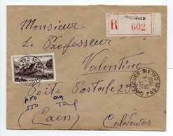 - Lettre Recommandée CHOCQUES (Pas-de-Calais) Pour CAEN (Calvados) 25.9.1950 - - Marcophilie (Lettres)