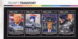 Sierra Leone 2017  - Donald Trump's Transport  -  Mercedes - Rolls-Royce  - 4v Sheet Neuf/MNH - Cars