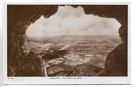 Real Photo Postcard, Gibralter, The Rock Galleries. Landscape, Seaview. - Gibilterra