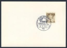 Deutschland Germany 1967 Card / Karte - GDBA - 11. Gewerkschaftstag, Karlsruhe / 11th Union Day - Treinen