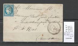 France - Lettre De BOCOGNANO - Corse - GC 507 - 1872 - Marcophilie (Lettres)