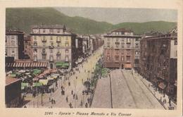 Spezia - Piazza Mercato E Via Cavour - La Spezia