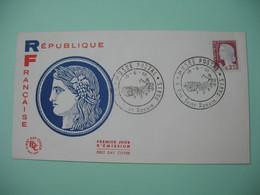 FDC 1962 N° 1263 Marianne De Decaris - Cachet Musée Postal - 4 Rue Saint Romain Paris - FDC