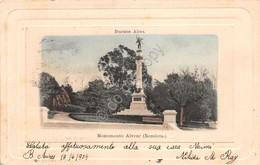 Cartolina Buenos Aires Monumento Alvear Recoleta 1904 - Cartoline