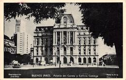 Cartolina Buenos Aires Palacio Del Correo Y Edificio Comega 1949 - Cartoline