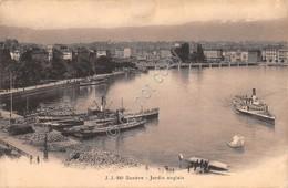 Cartolina Geneve Jardin Anlais 1913 - Cartoline
